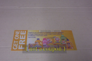 Picture of my Arm & Hammer Laundry Product Free Coupon