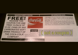 Coupon for Free Coca Cola 12 Pack