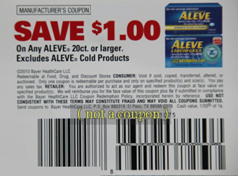 Save $1 Coupon for Aleve