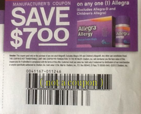 Coupon for $7 Off Allegra Product